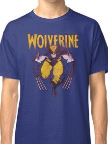 Wolverine Retro Comic Maroon Classic T-Shirt