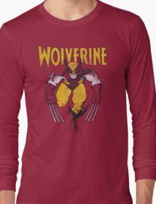 Wolverine Retro Comic Maroon T-Shirt