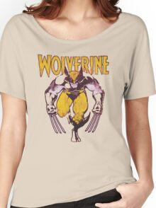 Wolverine Retro Comic Maroon Women's Relaxed Fit T-Shirt