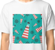 Lighthouse pattern Classic T-Shirt