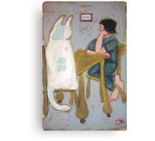 iphone Kitty Case by jacinta stephenson as cint clare Canvas Print