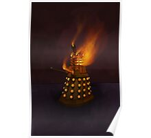 Dr Who Classic Dalek in Flames Poster