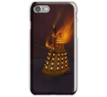 Dr Who Classic Dalek in Flames iPhone Case/Skin