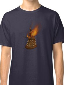 Dr Who Classic Dalek in Flames Classic T-Shirt