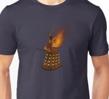 Dr Who Classic Dalek in Flames Unisex T-Shirt