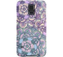 Aqua, Pink and Purple Doodled Pattern Samsung Galaxy Case/Skin
