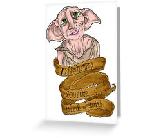 Dobby , Harry Potter Greeting Card