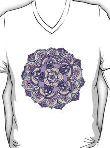 Aqua, Pink and Purple Doodled Pattern T-Shirt