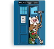 Adventure Time Lord Generation 10 - TARDIS Metal Print