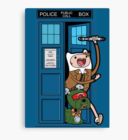 Adventure Time Lord Generation 10 - TARDIS Canvas Print