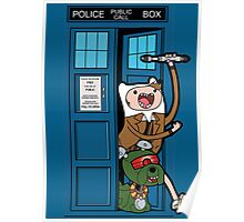 Adventure Time Lord Generation 10 - TARDIS Poster
