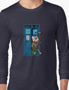 Adventure Time Lord Generation 10 - TARDIS Long Sleeve T-Shirt