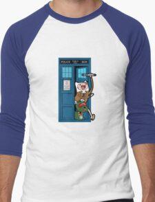 Adventure Time Lord Generation 10 - TARDIS Men's Baseball ¾ T-Shirt