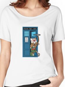 Adventure Time Lord Generation 10 - TARDIS Women's Relaxed Fit T-Shirt