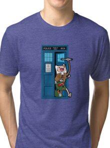 Adventure Time Lord Generation 10 - TARDIS Tri-blend T-Shirt