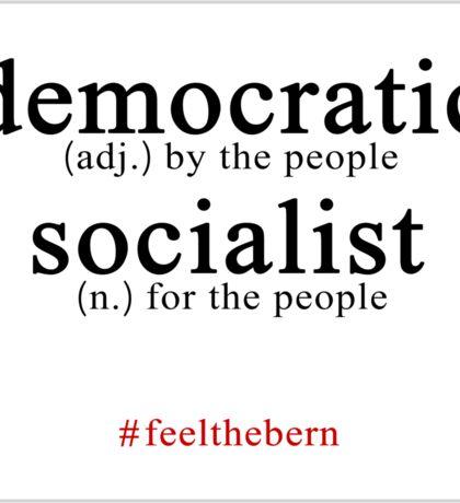 Democratic Socialist Bernie Sanders Sticker