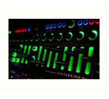 Glow in the Dark Synthesizer Illumination Art Print