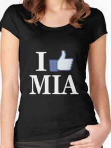 I Like MIAMI - I Love MIAMI - MIA Women's Fitted Scoop T-Shirt