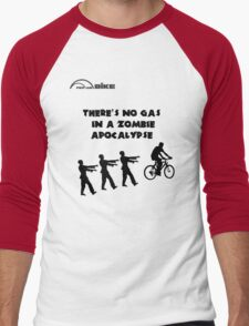 Cycling T Shirt - There's No Gas in a Zombie Apocalypse Men's Baseball ¾ T-Shirt