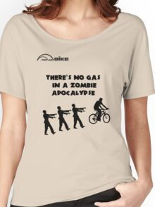 Cycling T Shirt - There's No Gas in a Zombie Apocalypse Women's Relaxed Fit T-Shirt