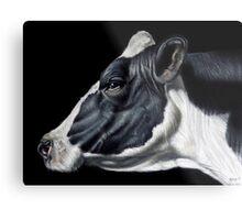 Holstein Friesian Dairy Cow Portrait Metal Print