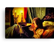 Candlelit Literature Canvas Print