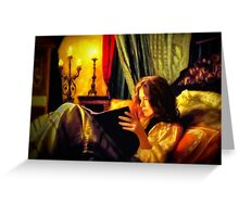 Candlelit Literature Greeting Card