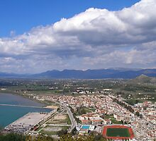 Nafplio from above by tbshots