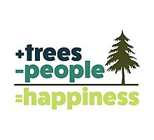 Earth Day Design +trees -people =happiness Photographic Print