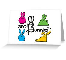 GeoBunnies Logo with Bunnies Greeting Card