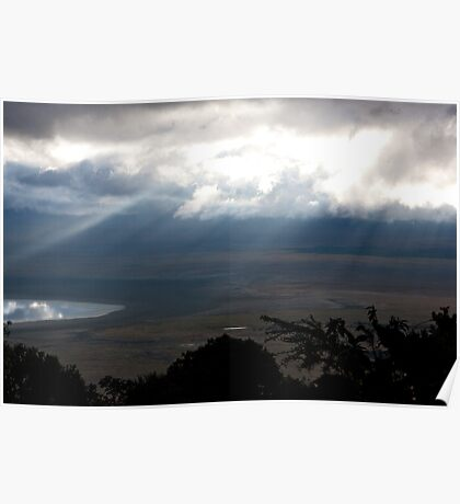 Stormy Afternoon Ngorongoro Poster