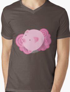 Pinky_Pig Mens V-Neck T-Shirt