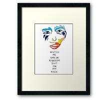 GAGA ARTPOP PARODY  Framed Print