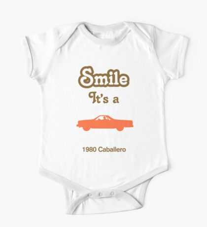 Smile it's a 1980 Caballero Children's Clothing One Piece - Short Sleeve