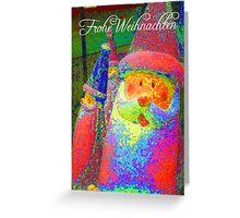 Santa Frohe Weihnachten Greeting Card