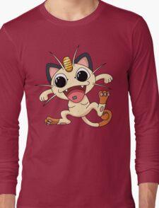 Meowth On Acid Long Sleeve T-Shirt