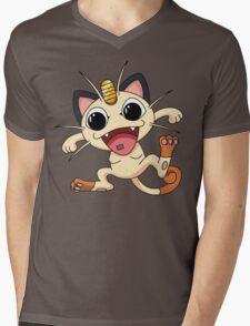 Meowth On Acid Mens V-Neck T-Shirt