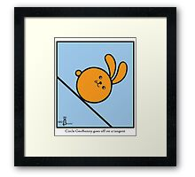 Circle GeoBunny goes off on a tangent Framed Print