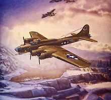 B17 Flying Fortress Over Russia by Shawna Mac
