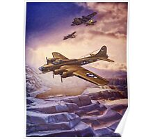 B17 Flying Fortress Over Russia Poster