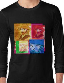 VINCENT VAN GOGH COLLAGE, DUTCH POST-IMPRESSIONIST ARTIST Long Sleeve T-Shirt