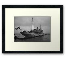 CSS Acadia in Halifax Harbour Nova Scotia Framed Print
