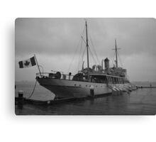 CSS Acadia in Halifax Harbour Nova Scotia Canvas Print