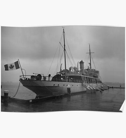 CSS Acadia in Halifax Harbour Nova Scotia Poster