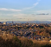 Edinburgh Skyline from Craigmillar Castle by Miles Gray