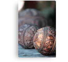 Wood Carving in Intricate Design Canvas Print