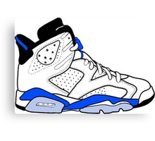 "Air Jordan VI (6) ""Sport Blue"" Canvas Print"