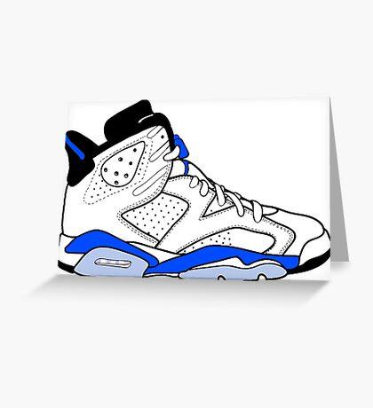 "Air Jordan VI (6) ""Sport Blue"" Greeting Card"