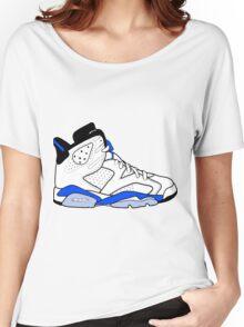 """Air Jordan VI (6) """"Sport Blue"""" Women's Relaxed Fit T-Shirt"""