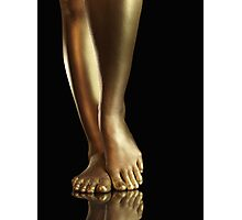 Golden Legs art photo print Photographic Print